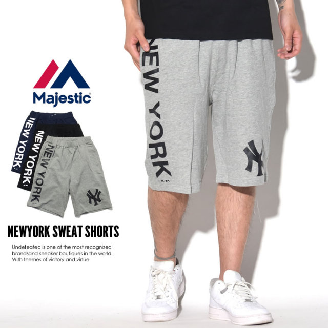 MAJESTIC マジェスティック スウェットショーツ NEWYORK SWEAT SHORTS MM23-NYK-0020 7V3012