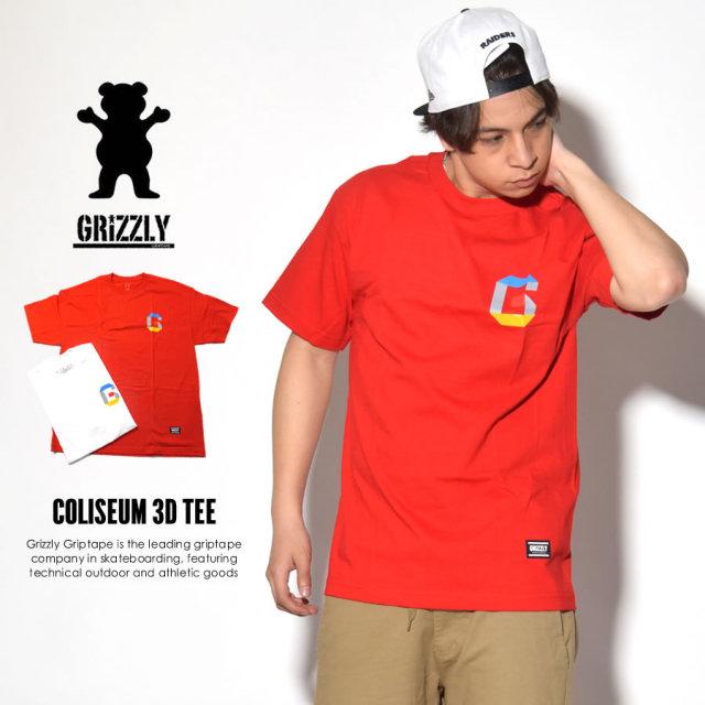 GRIZZLY GRIPTAPE グリズリーグリップテープ 半袖Tシャツ COLISEUM 3D TEE GMB1701P05 7V3123