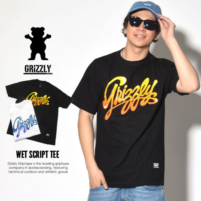 Grizzly Griptape (グリズリーグリップテープ) 半袖Tシャツ WET SCRIT TEE (GMB1701P13)