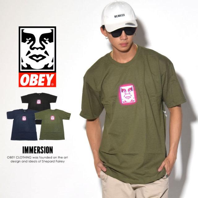 OBEY オベイ 半袖Tシャツ IMMERSION 163081492 7V3236