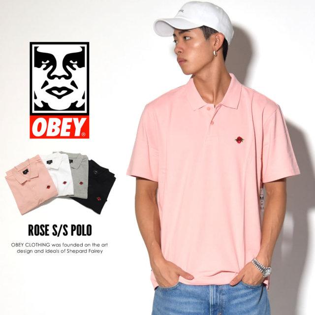 OBEY オベイ 半袖ポロシャツ ROSE S/S POLO 131090029 7V3244