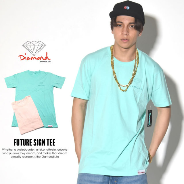 DIAMOND SUPPLY CO. ダイヤモンドサプライ 半袖Tシャツ FUTURE SIGN TEE B17DMPA06 7V3256