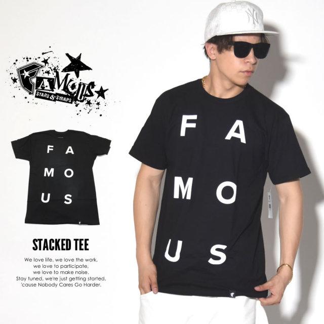 FAMOUS STRAS & STRAPS フェイマススターズアンドストラップス 半袖Tシャツ STACKED TEE FM02170019 7V3268