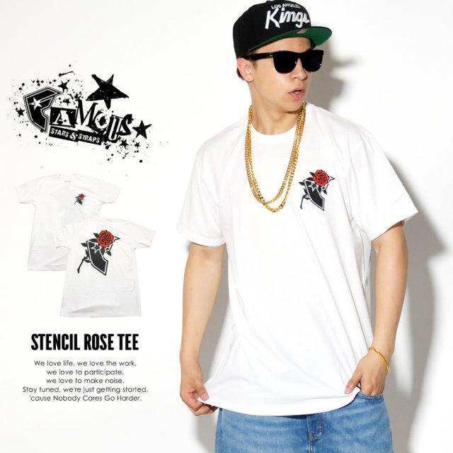 FAMOUS STRAS & STRAPS フェイマススターズアンドストラップス 半袖Tシャツ STENCIL ROSE TEE FM02170020 7V3269