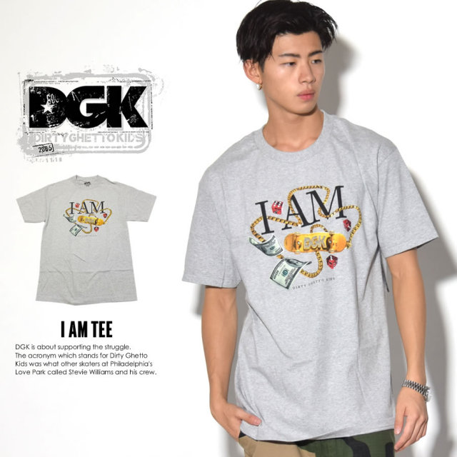 DGK ディージーケー 半袖Tシャツ I AM TEE DT-3636 7V3316