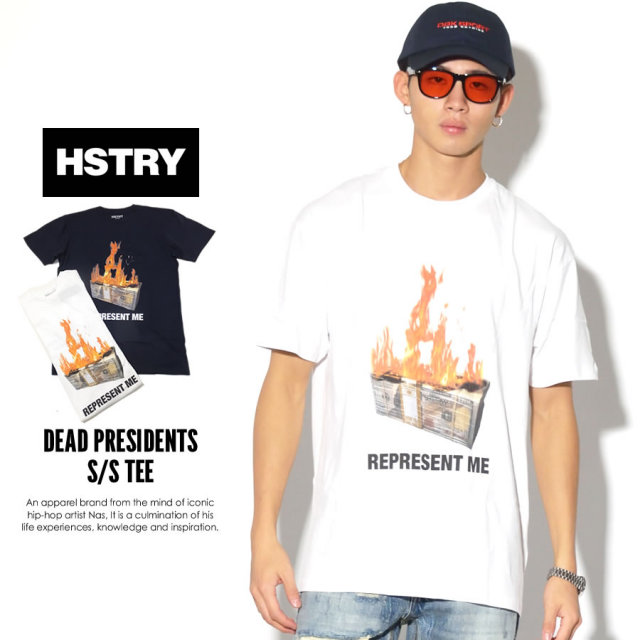 HSTRY ヒストリー 半袖Tシャツ DEAD PRESIDENTS S/S TEE DY-41714 7V3324