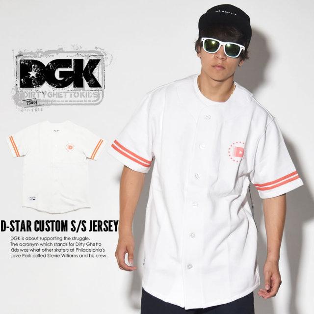 DGK ディージーケー ベースボールジャージ D-STAR CUSTOM S/S JERSEY DSS-269 7V3374