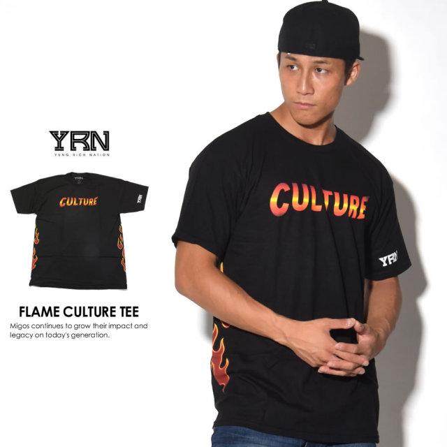 YRN ヤングリッチネイション 半袖Tシャツ FLAME CULTURE TEE YT17T67 7V3402