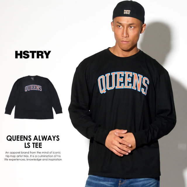 HSTRY ヒストリー 長袖Tシャツ QUEENS ALWAYS LS TEE HY-42082 7V5387