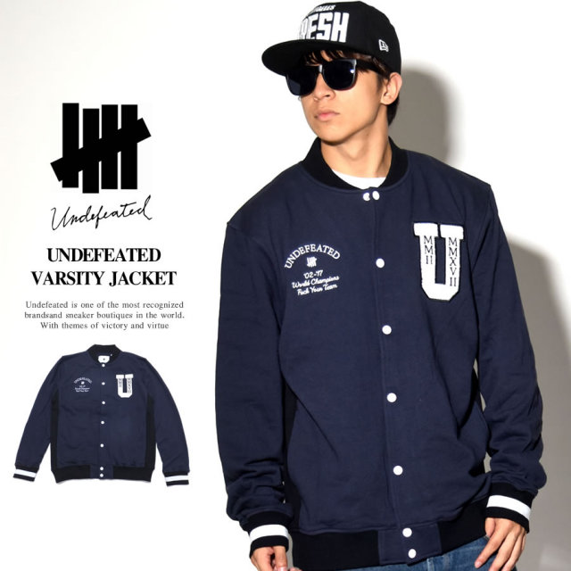 UNDEFEATED アンディフィーテッド バーシティジャケット UNDEFEATED VARSITY JACKET 518317 7V5492