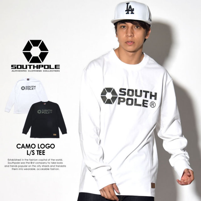 SOUTH POLE サウスポール 長袖Tシャツ CAMO LOGO L/S TEE 11731004 7V7055
