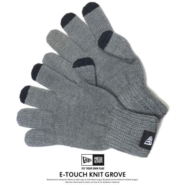 NEW ERA ニューエラ スマホ手袋 Eタッチ ニットグローブ 杢ミディアムグレー 11474631 7V7126