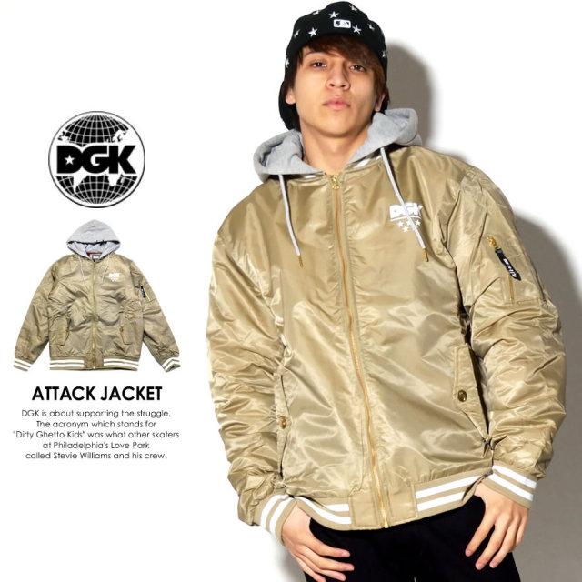 DGK ディージーケー ミリタリージャケット ATTACK JACKET カーキ DJT-203 7V7273