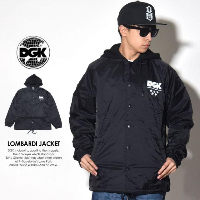 DGK ディージーケー コーチジャケット LOMBARDI JACKET ブラック DJT-205 7V7274