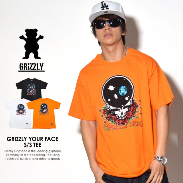 GRIZZLY グリズリー 半袖Tシャツ GRIZZLY YOUR FACE S/S TEE SMC1701P14 7V8035