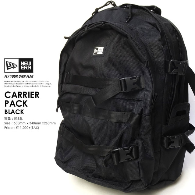 NEW ERA (ニューエラ) バックパック CARRIER PACK 35L ブラック (11404494)