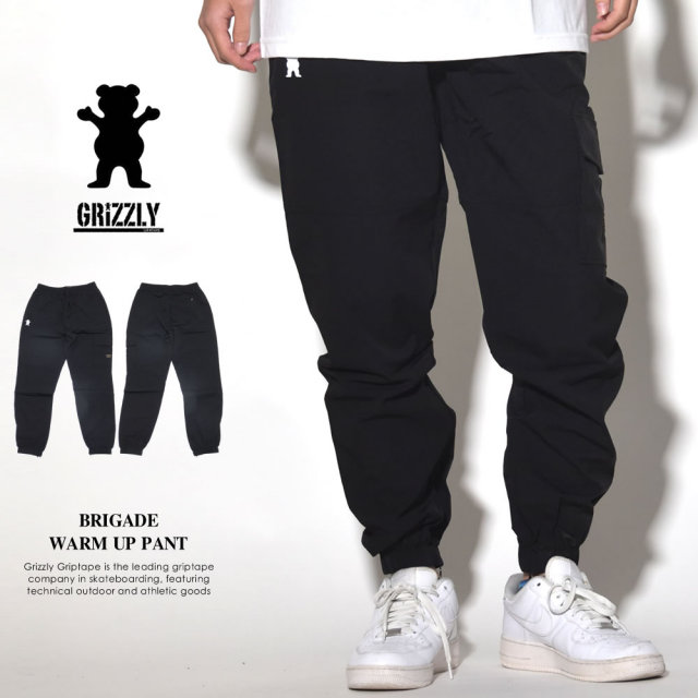 Grizzly Griptape (グリズリーグリップテープ) ナイロントラックパンツ BRIGADE WARM UP PANT (GMA1830C02)