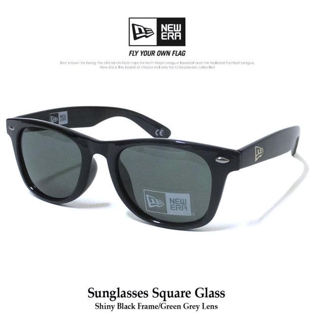 ニューエラ NEW ERA サングラス メンズ UVカット シャイニーブラックフレーム スモークグレーレンズ (11556586)