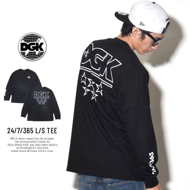 DGK ディージーケー 長袖Tシャツ 24/7/365 L/S TEE (DLS-316)