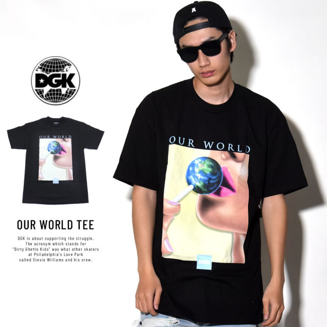 DGK ディージーケー 半袖Tシャツ OUR WORLD TEE (DT-4007)