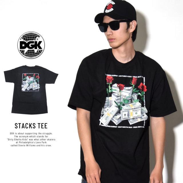 DGK ディージーケー 半袖Tシャツ STACKS TEE (DT-4014)
