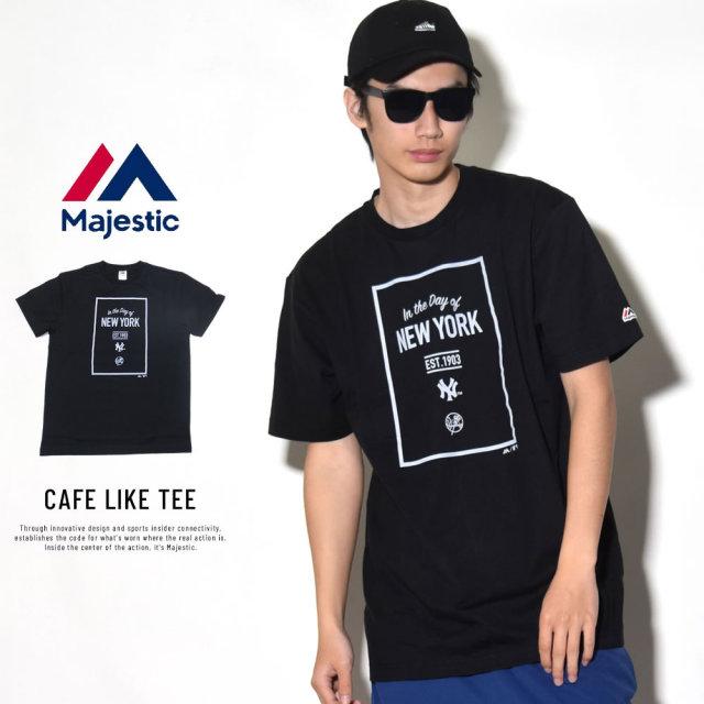 MAJESTIC マジェスティック 半袖Tシャツ CAFE LIKE TEE (MM01-NYK-8S23)