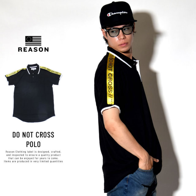 REASON リーズン ポロシャツ DO NOT CROSS POLO (M8-39)