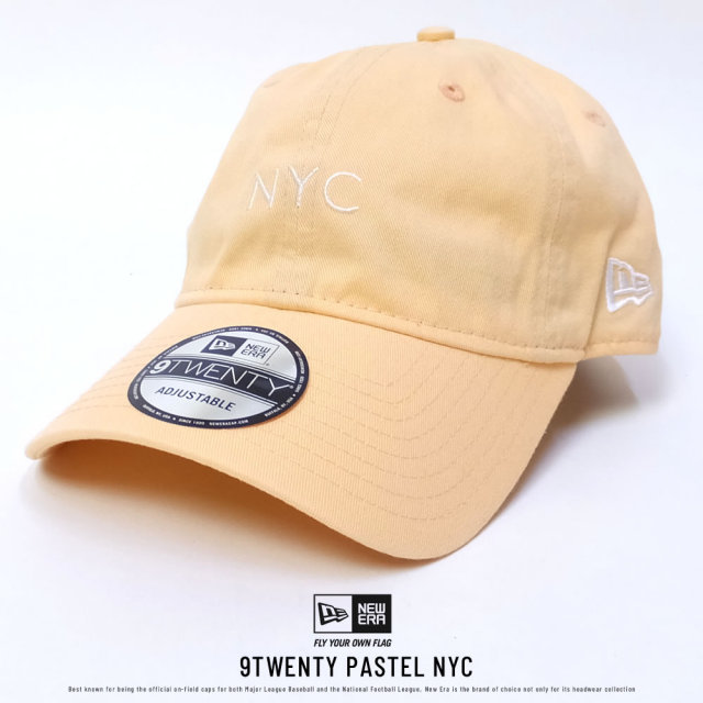 NEW ERA ニューエラ カーブバイザーキャップ 9TWENTY クロスストラップ パステル NYC ピーチ (11557479)