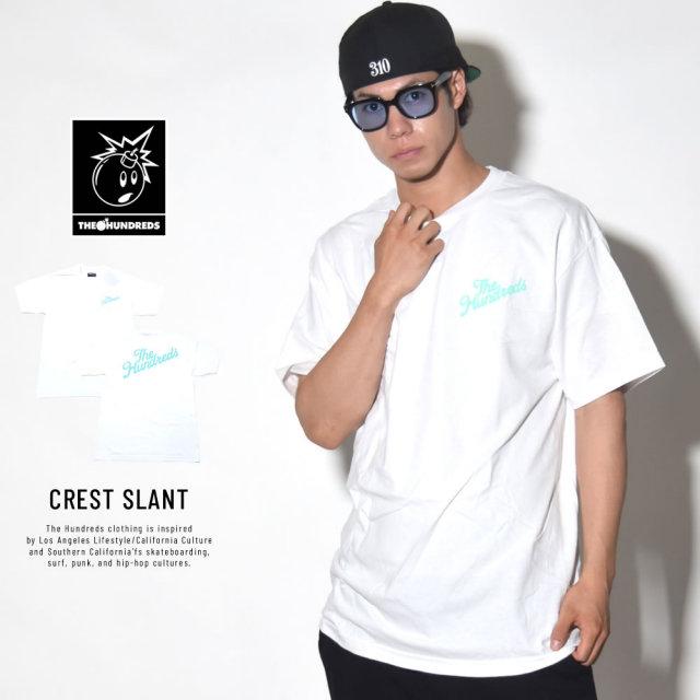 THE HUNDREDS ザ・ハンドレッツ 半袖Tシャツ CREST SLANT (T18S201014)