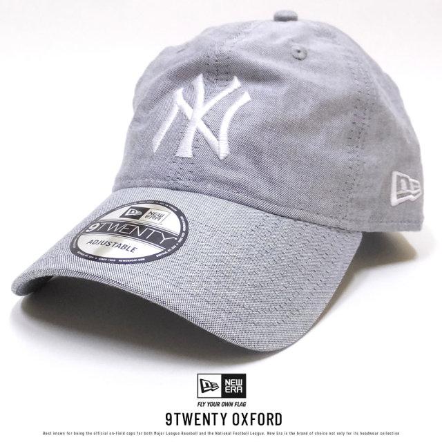 NEW ERA ニューエラ カーブバイザーキャップ 9TWENTY クロスストラップ オックスフォード ニューヨーク・ヤンキース ブラック×ホワイト (11557485)