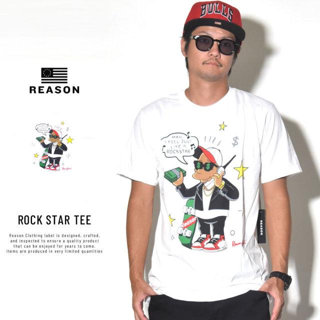 REASON リーズン 半袖Tシャツ ROCK STAR TEE (T9P-02)