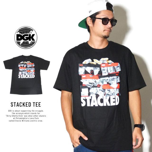 DGK ディージーケー 半袖Tシャツ STACKED TEE (DT-4151)