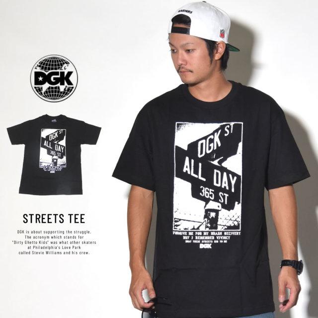 DGK ディージーケー 半袖Tシャツ STREETS TEE ブラック (DT-4157)