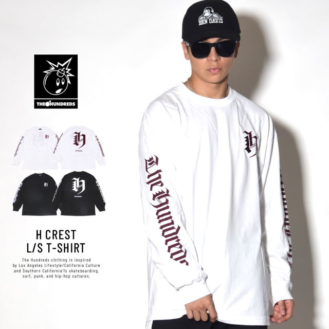 THE HUNDREDS ザ・ハンドレッツ 長袖Tシャツ H CREST L/S T-SHIRT (T18F101050)