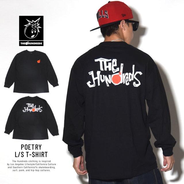 THE HUNDREDS ザ・ハンドレッツ 長袖Tシャツ POETRY L/S T-SHIRT (T18F101051)