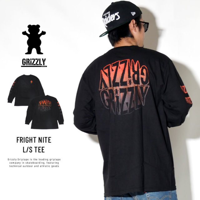 Grizzly Griptape 長袖Tシャツ FRIGHT NITE L/S TEE GMC1802P03