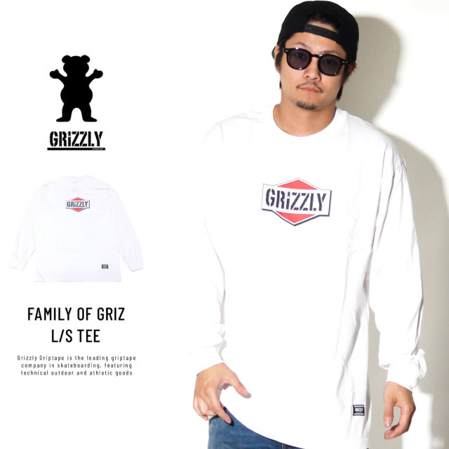 Grizzly Griptape 長袖Tシャツ FAMILY OF GRIZ L/S TEE GMC1802P08
