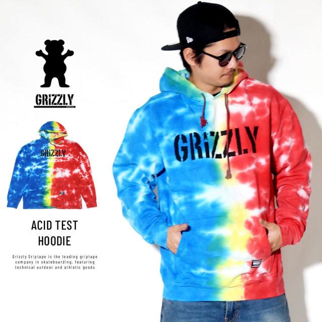 Grizzly Griptape プルオーバーパーカー ACID TEST HOODIE GMC1808P02