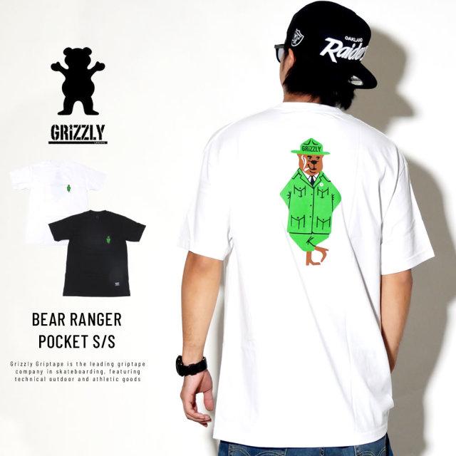 Grizzly Griptape グリズリーグリップテープ 半袖ポケットTシャツ BEAR RANGER POCKET S/S TEE GMD1801P02