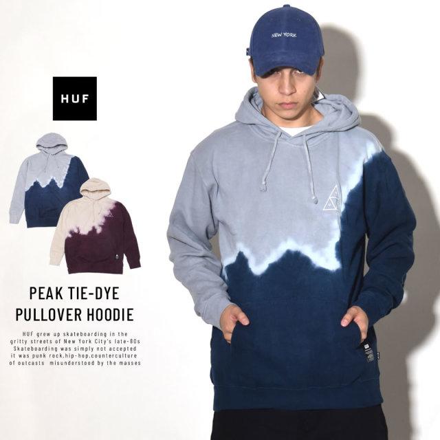 HUF ハフ プルオーバーパーカー PEAK TIE-DYE PULLOVER HOODIE PF00087