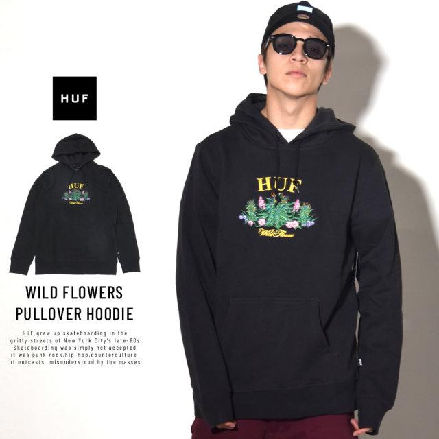 HUF ハフ プルオーバーパーカー WILD FLOWERS PULLOVER HOODIE PF00090