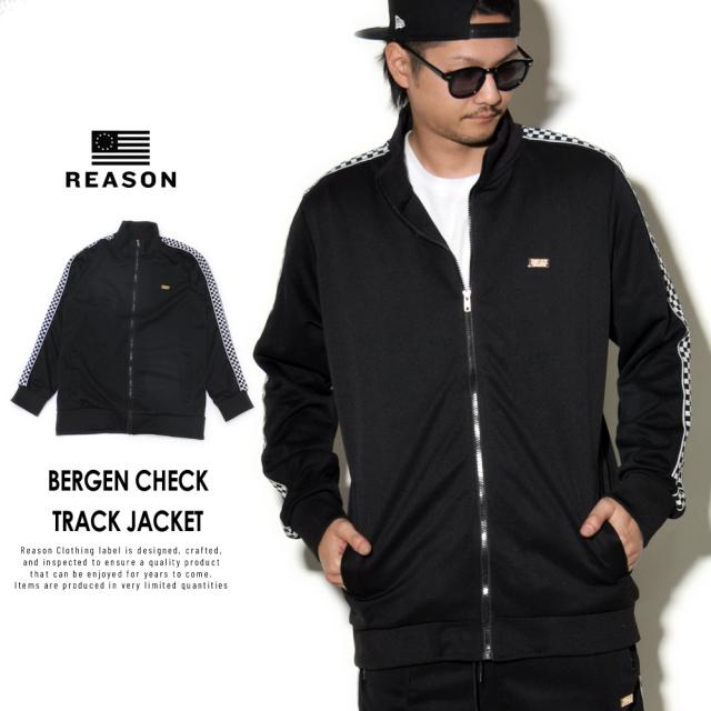 REASON リーズン トラックジャケット BERGEN CHECK TRACK JACKET T-7