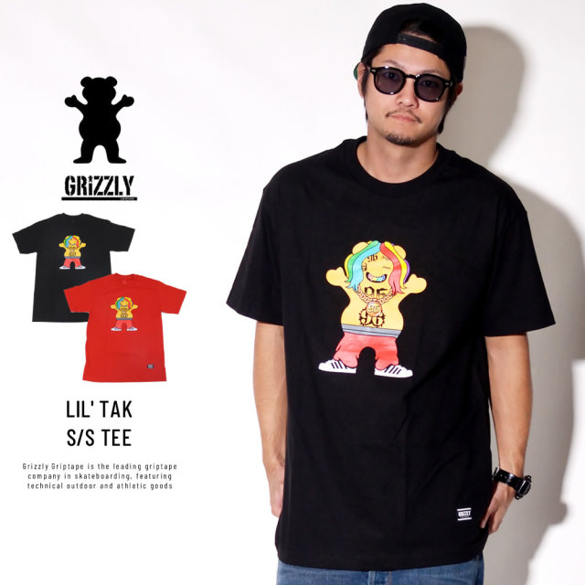 Grizzly Griptape グリズリーグリップテープ 半袖Tシャツ LIL' TAK S/S TEE SMB1801P15