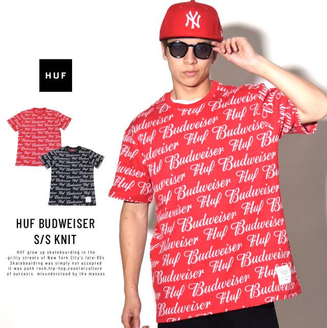 HUF ハフ ニットTシャツ HUF BUDWEISER S/S KNIT SHIRT KN00106