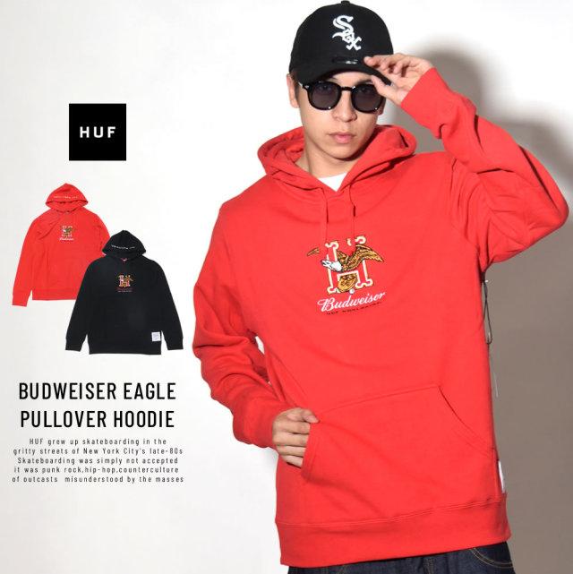 HUF ハフ プルオーバーパーカー BUDWEISER EAGLE PULLOVER HOODIE PF00147