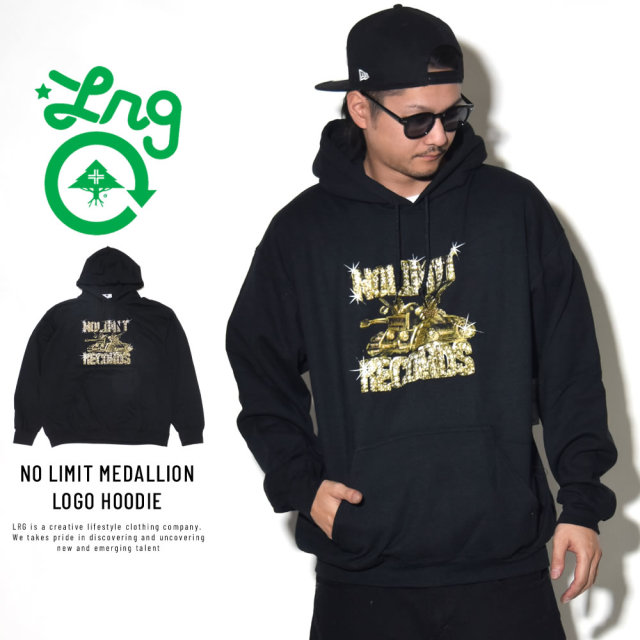 LRG エルアールジー プルオーバーパーカー NO LIMIT MEDALLION LOGO HOODIE M183003S