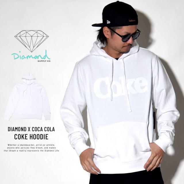 DIAMOND SUPPLY CO ダイヤモンドサプライ プルオーバーパーカー COKE HOODIE A19DMTG056S