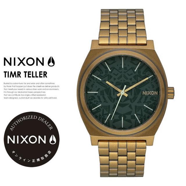 NIXON ニクソン 腕時計 リストウォッチ メンズ TIME TELLER PALM GREEN BRASS (A0452851)