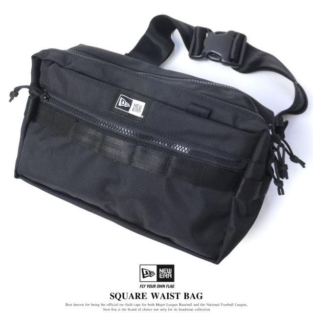 New Era (ニューエラ) ウエストバッグ SQUARE WAIST BAG 7L ブラック (11556601)