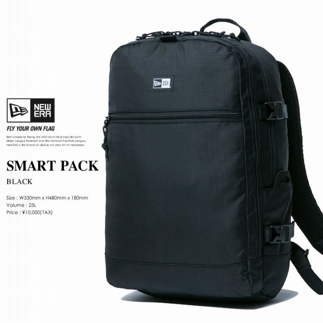 New Era (ニューエラ) バックパック SMART PACK 28L ブラック (11556610)